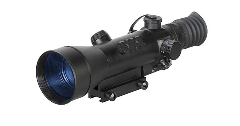sighting in night vision rifle scope