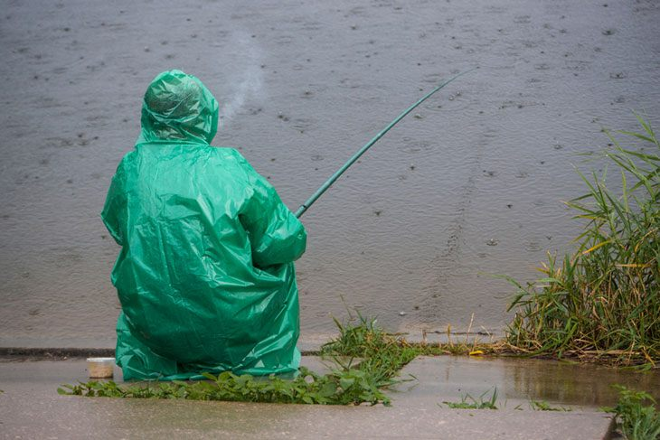 is fishing in the rain a good idea