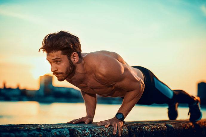 Effective Exercises for a Hunter: push-ups